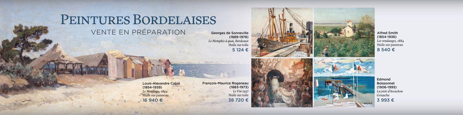 Peinture peintre bordelais Bordeaux estimation vente aux enchères